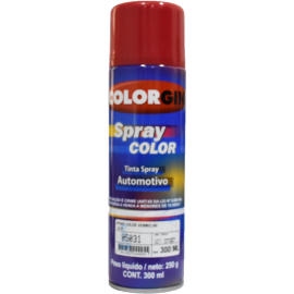 Pintura  en Aerosol Color Rojo (automotriz) por 300ml
